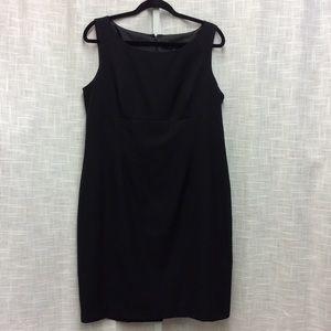 Kasper Sleeveless Black Dress Size 14
